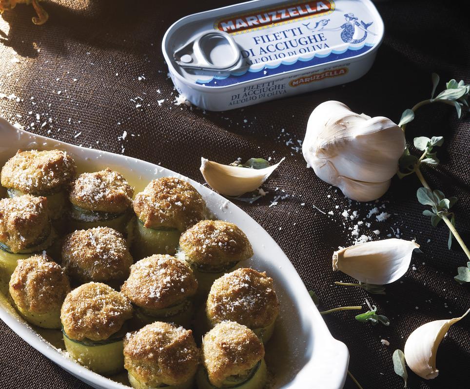 Zucchini Rolls Stuffed with Maruzzella Tuna