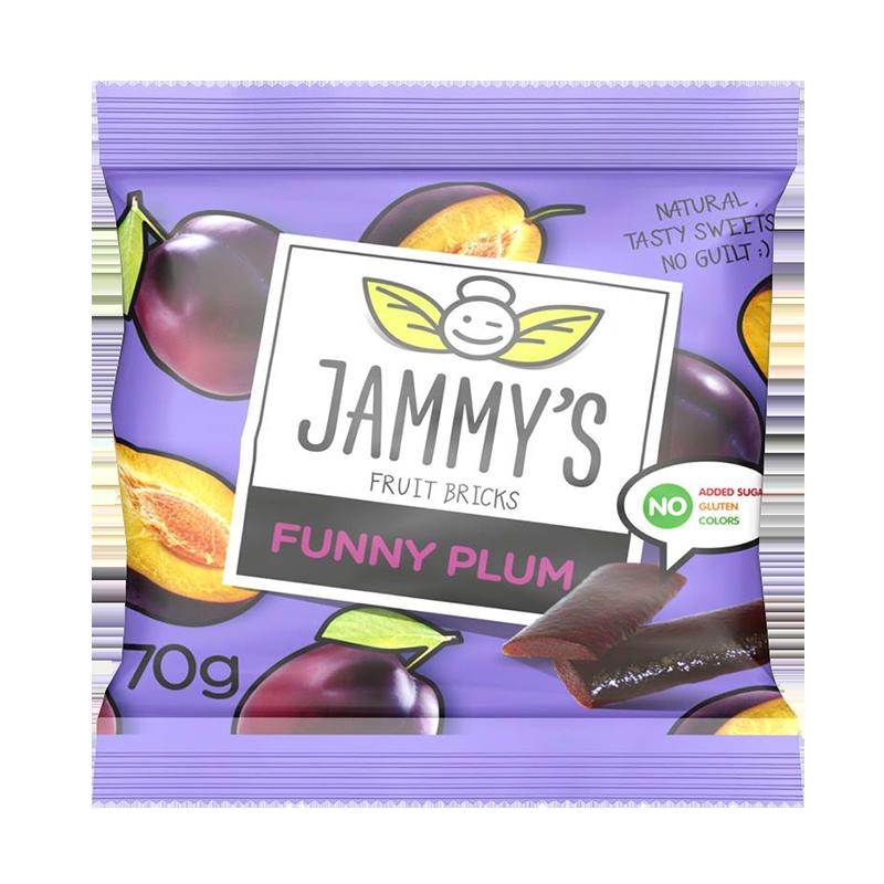 plum taste pastilles FUNNY PLUM JAMMY'S 70g Sweets, cookies