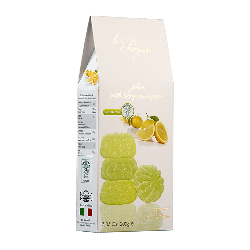 Jelly Sweets With Fruit Juice Bergamot LE PREZIOSE 200g Sweets, cookies