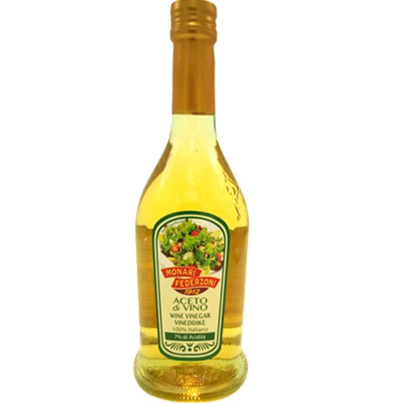 White wine vinegar 7% MONARI FEDERZONI 500ml Balsamic and condiments