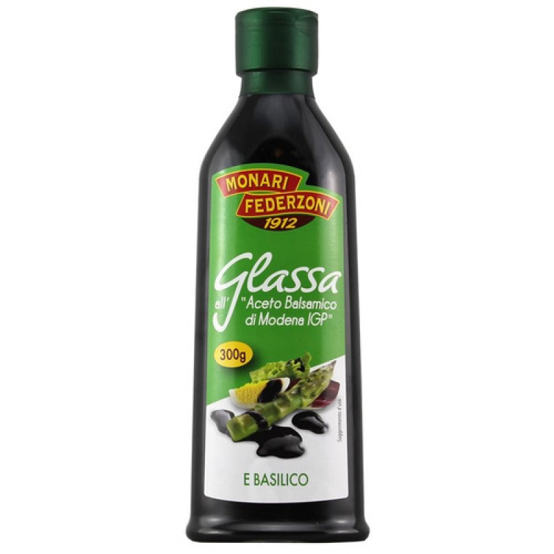 Glaze with balsamic vinegar with basil flavour MONARI FEDERZONI 250ml Balsamic and condiments