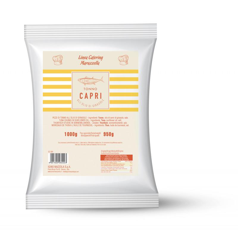 Тунец в подсолнечном масле CAPRI 1000g Консервированные продукты
