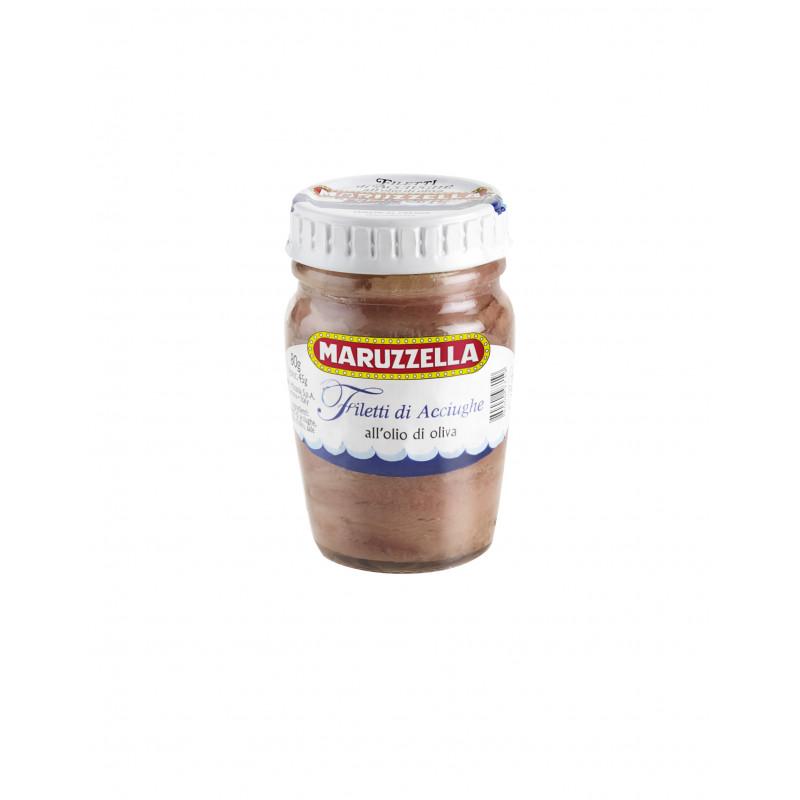 Филе анчоусов в оливковом масле MARUZZELLA 80г Консервированные продукты