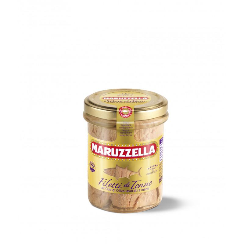 Натуральное Филе тунца в оливковом масле MARUZZELLA 185g Консервированные продукты