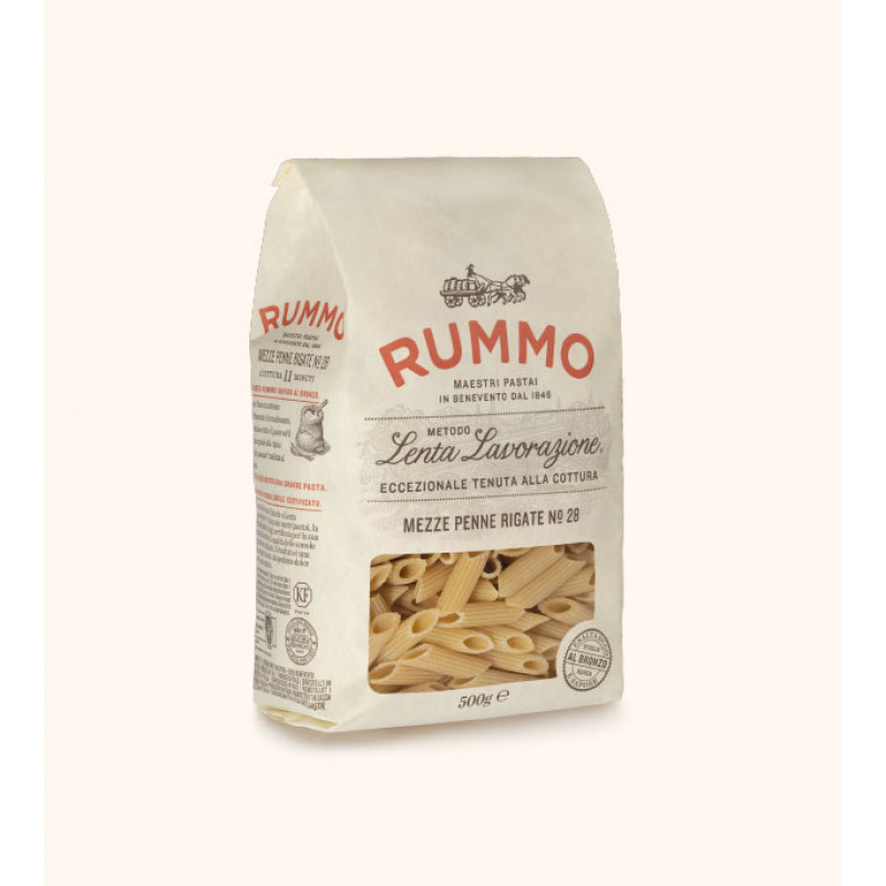 pasta MEZZE PENNE RIGATE Nº28 RUMMO 500g Rice and pasta