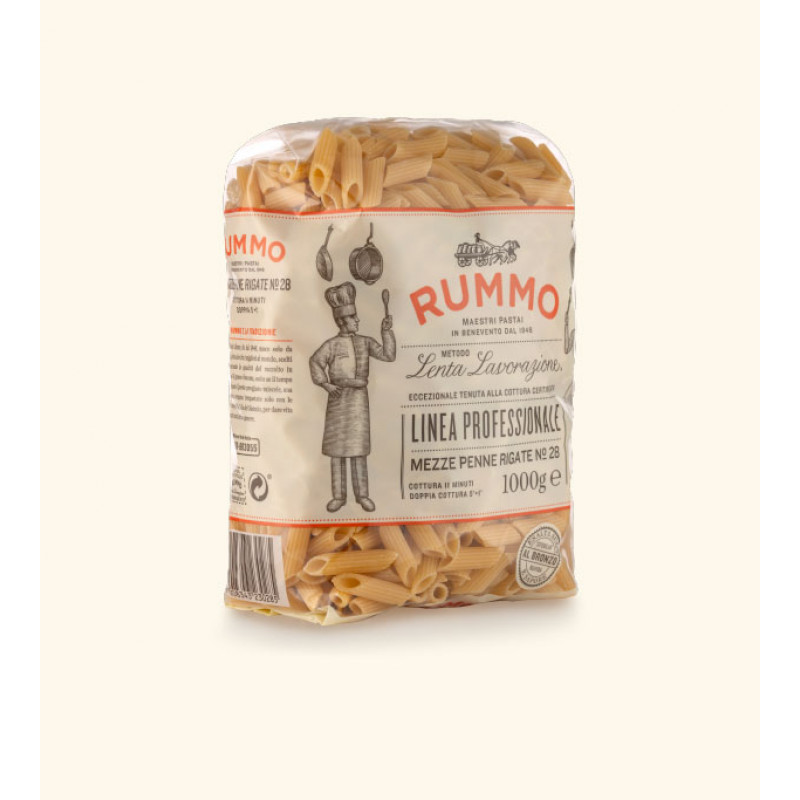 pasta MEZZE PENNE RIGATE Nº28 RUMMO 3000g Rice and pasta