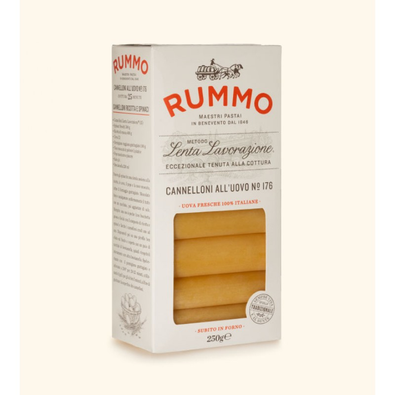 Egg Paste CANNELLONI ALL'UOVO Nº 176 RUMMO 250g Rice and pasta
