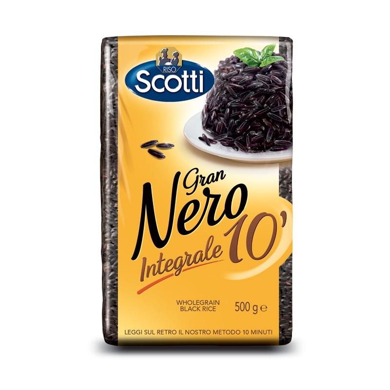 Black rice GRAN NERO 10 ′ RISO SCOTTI 500g Rice and pasta