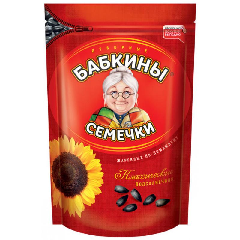 Семечки подсолнечника БАБКИНЫ 500г Закуски, чипсы