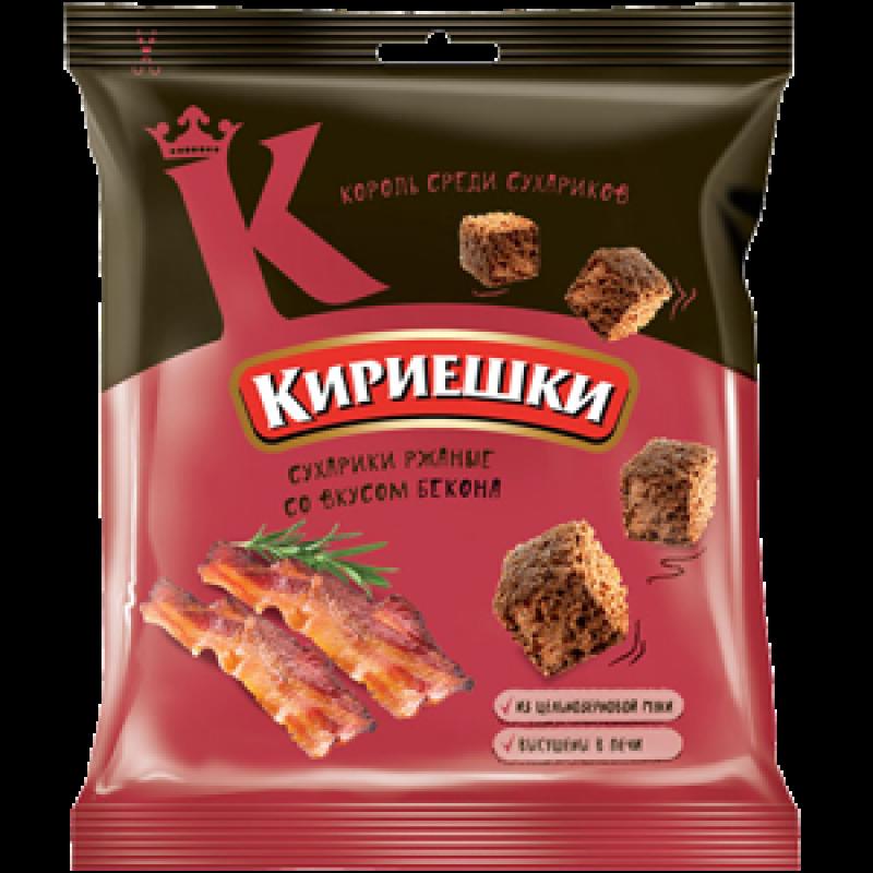 Сухарики со вкусом бекона «Кириешки» 40г Закуски, чипсы