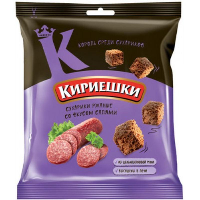 Сухарики со вкусом салями «Кириешки» 40г Закуски, чипсы