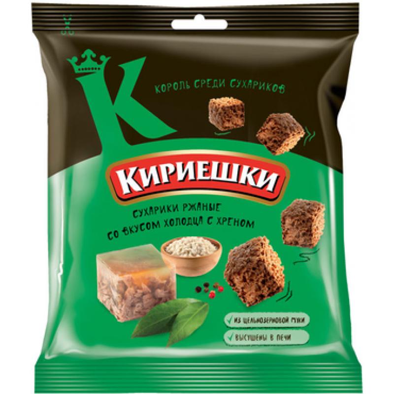 Сухарики со вкусом холодца с хреном «Кириешки» 40г Закуски, чипсы