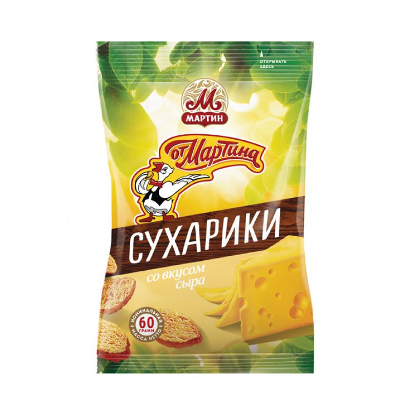 Сухарики Со Вкусом сыра ОТ МАРТИНА 60г Закуски, чипсы