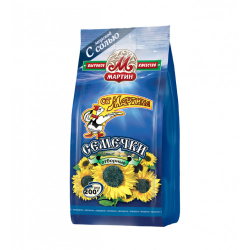 Selected fried sunflower seeds with sea salt FROM MARTIN 200g