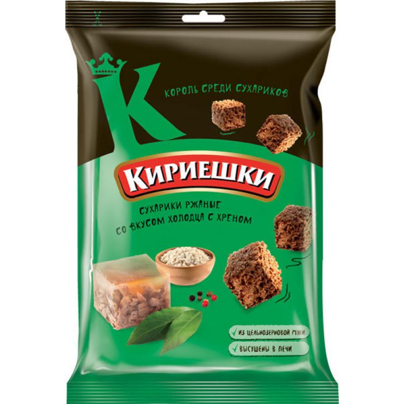 Сухарики со вкусом холодца с хреном «Кириешки» 100г Закуски, чипсы
