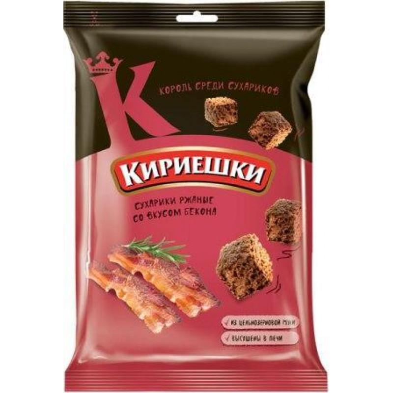 Сухарики со вкусом бекона «Кириешки» 100г Закуски, чипсы
