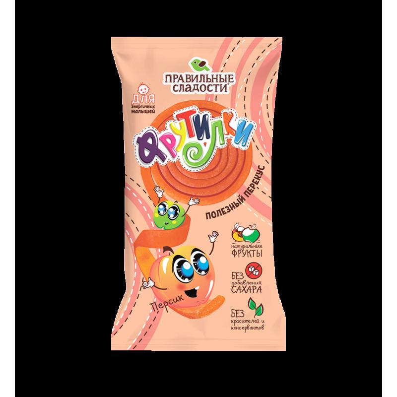 """Fruit pastilles Peach """"Frutilki"""" 15g Sweets, cookies"""