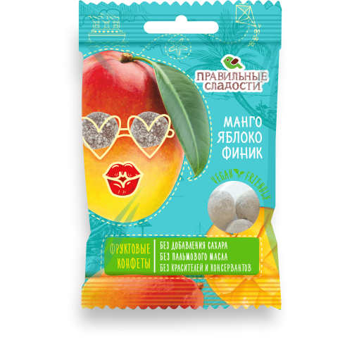 Fruit candies Mango, Apple, Date 50g