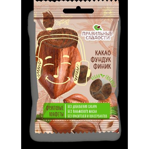 Fruit candies Cocoa, Hazelnut, Date 50g