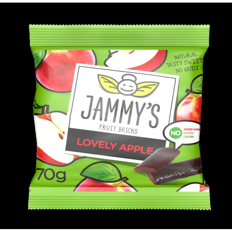 apple taste pastilles LOVELY APPLE JAMMY'S 70g Sweets, cookies