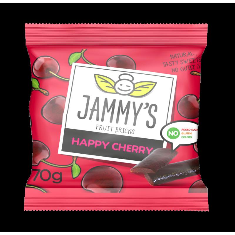 cherry taste pastilles HAPPY CHERRY JAMMY'S 70g Sweets, cookies