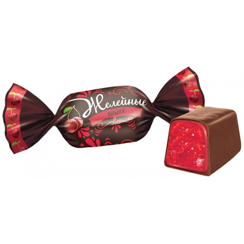 Cherry-flavored jelly candies in chocolate 500g Sweets, cookies