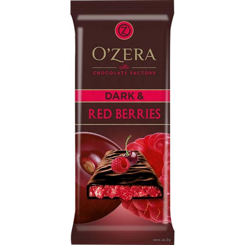 bitter chocolate Dark & Red Berries O'ZERA 90g Sweets, cookies