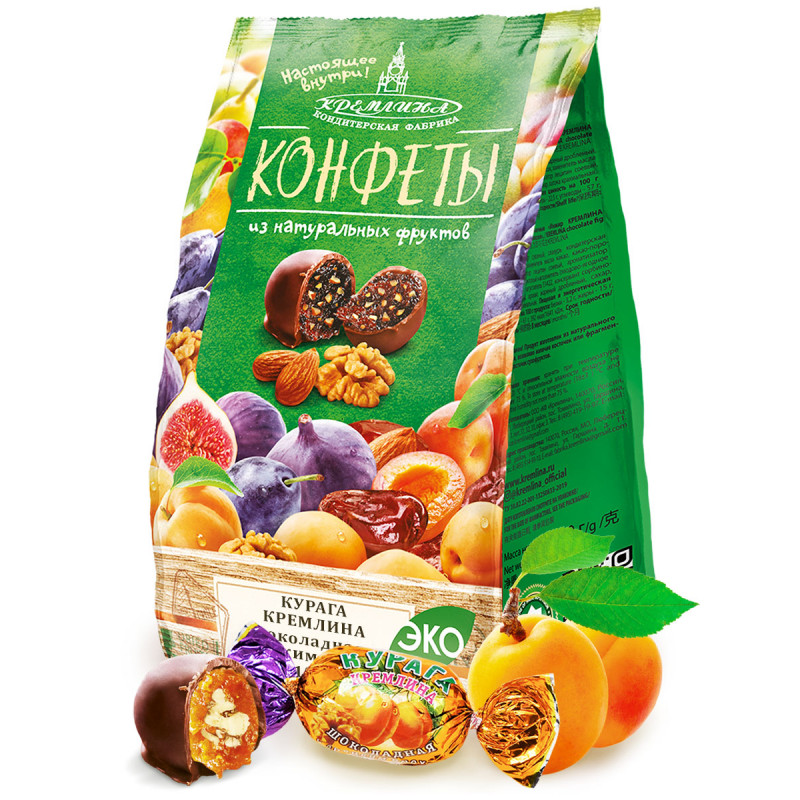 chocolate dried apricots with walnuts KREMLINA 190g Sweets, cookies