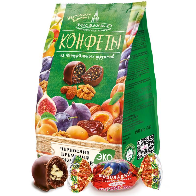 chocolate prunes with walnuts KREMLINA 190g Sweets, cookies
