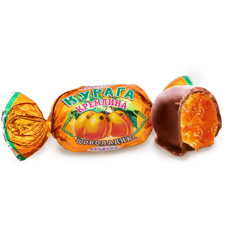 Dried apricots in dark chocolate KREMLINA 500g Sweets, cookies