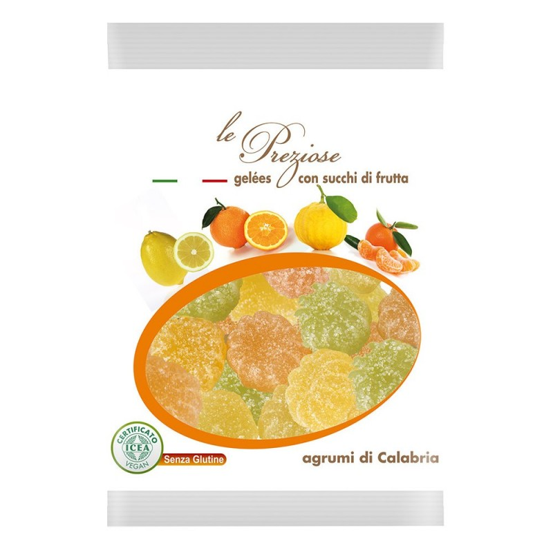 jelly sweets with fruit juice citruses LE PREZIOSE 100g Sweets, cookies