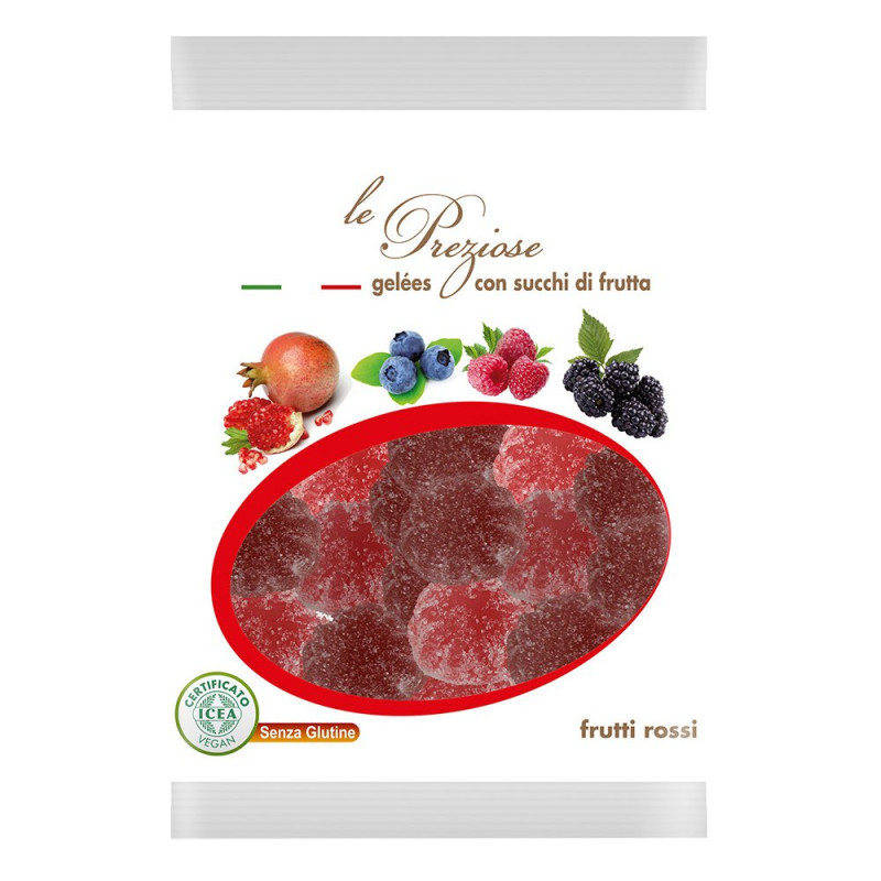 jelly sweets with fruit juice red fruit LE PREZIOSE 100g Sweets, cookies