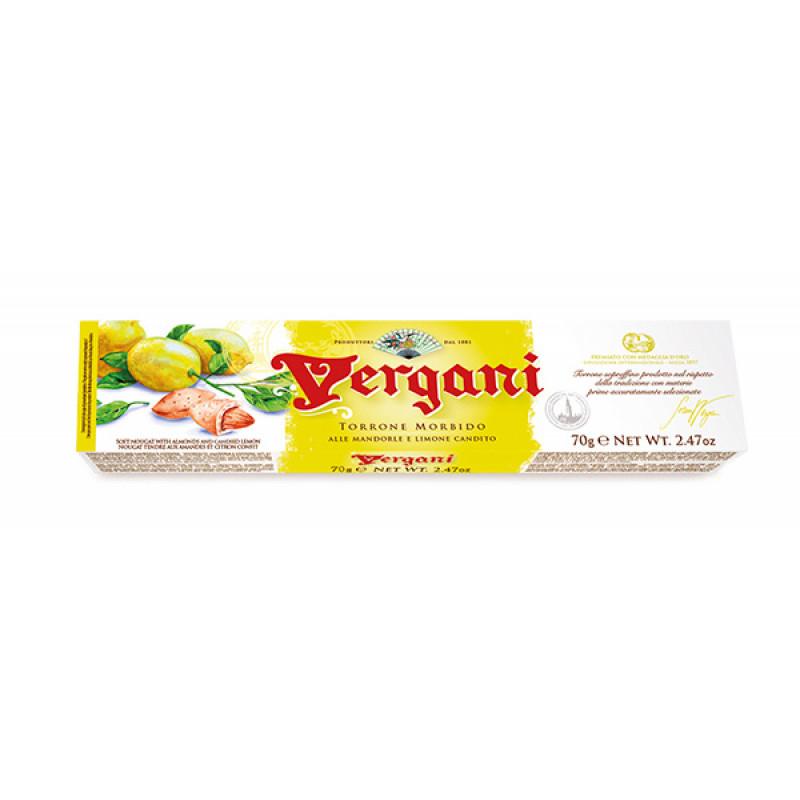 soft nougat of almond lemon VERGANI 70g Sweets, cookies