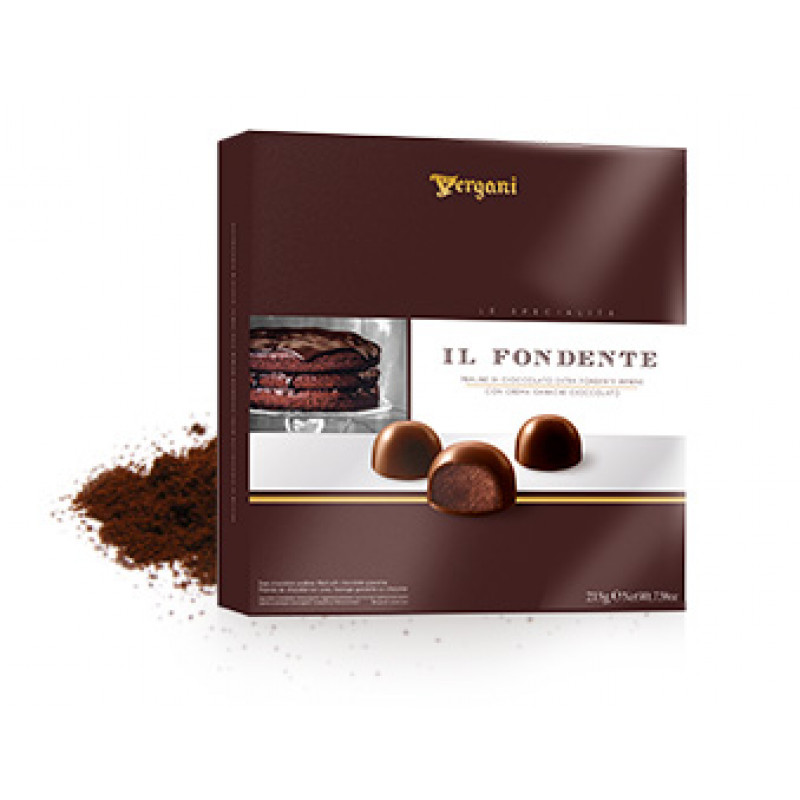 Dark chocolate pralines IL FONDENTE VERGANI 215g Sweets, cookies