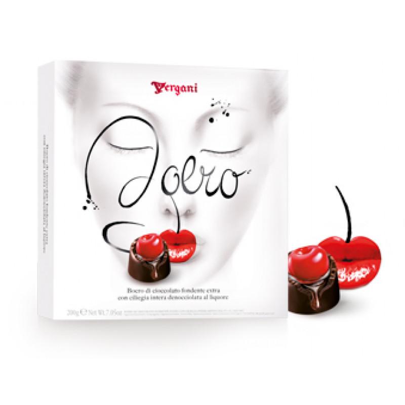 cherry with liqueur in dark chocolate BOERO VERGANI 200g Sweets, cookies