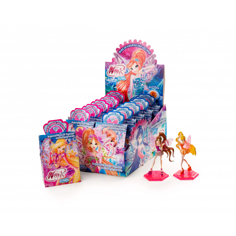 toy with lollipop candy WINX CLUB 11,3g Sweets, cookies