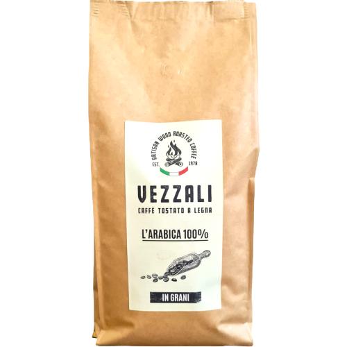 "Grain coffee roasted on wood ""L'Arabica 100%"" Vezzali 500g"