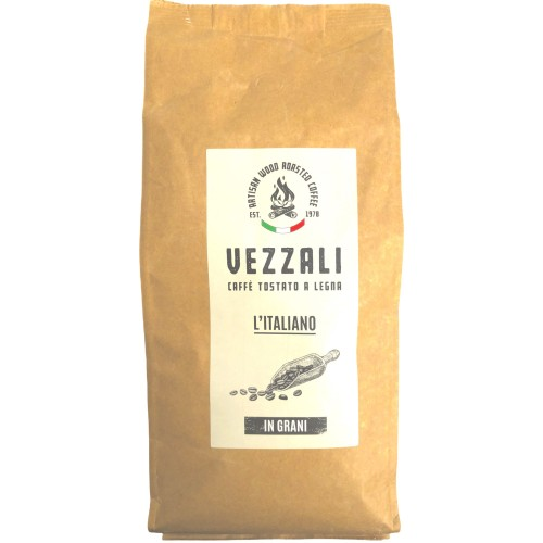 "Grain coffee roasted on wood ""L'Italiano"" Vezzali 500g"
