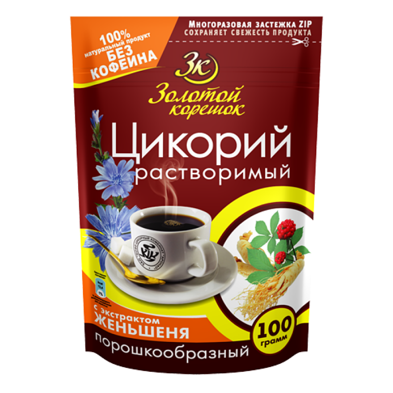 """Ginseng Chicory """"Golden root"""" 100g Tea and coffee"""