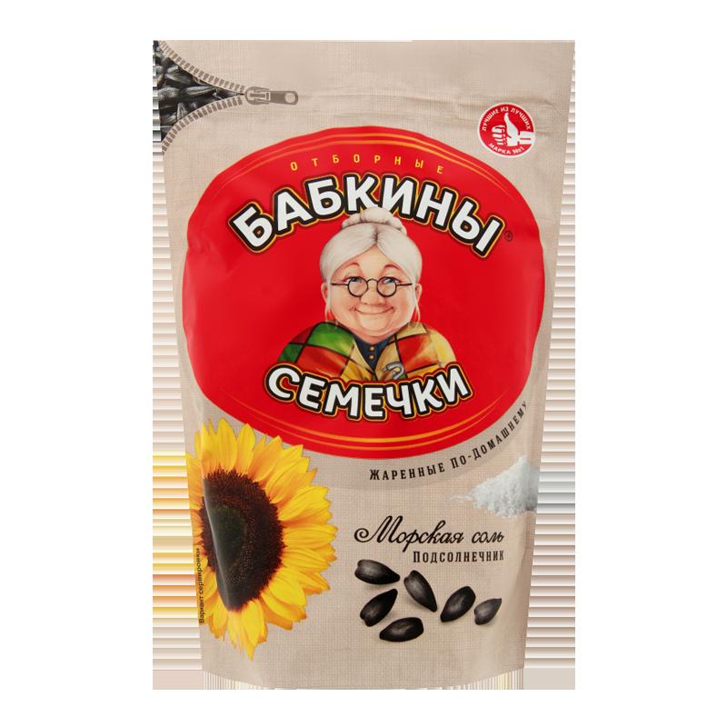 Семечки подсолнечника соленые БАБКИНЫ 300г Закуски, чипсы